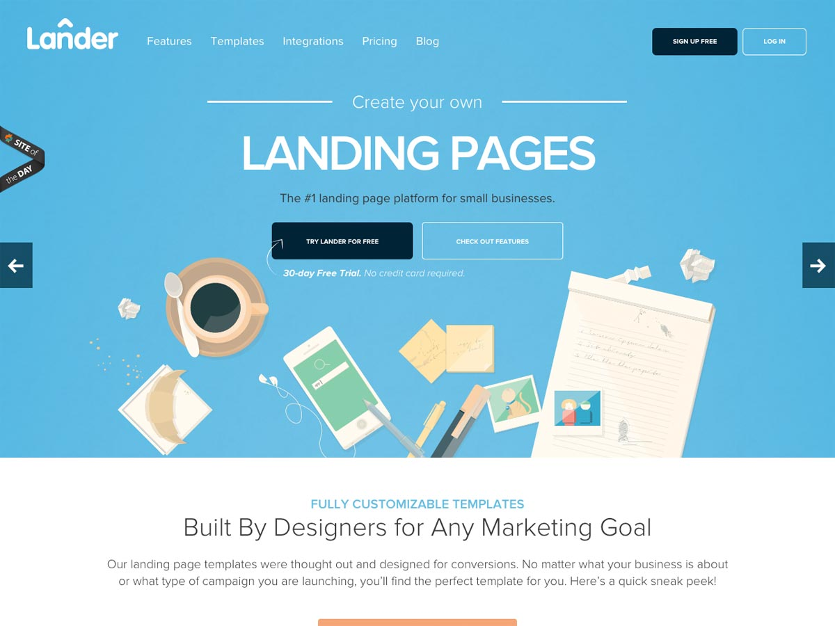 full landing page with logo \u2013 qwertyseo comLanding Pages #21